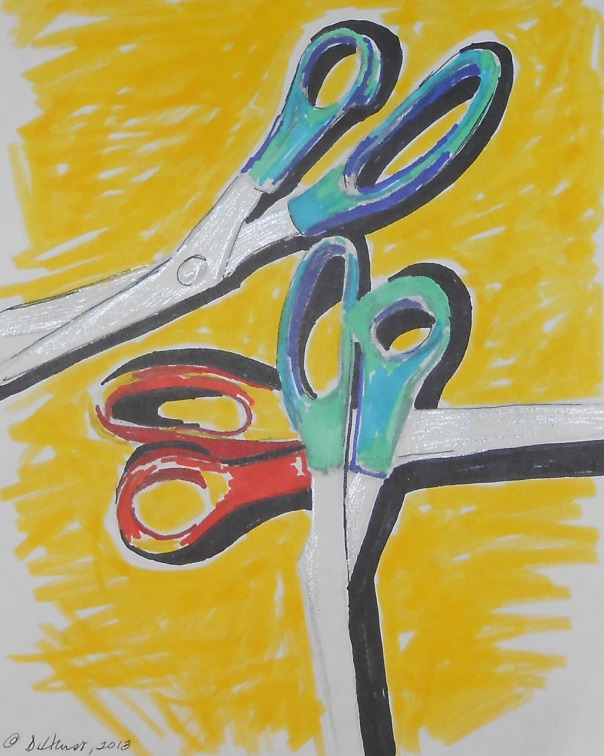 """Scissors in marker"" 2013"