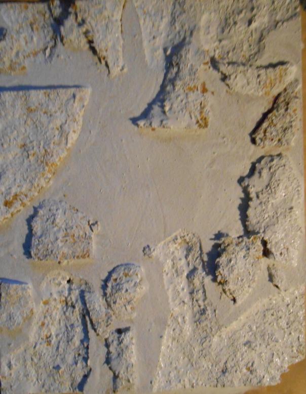 """Canyons 2, mixed media, 17  1/2"""" x 13 1/2"""" in progress."""