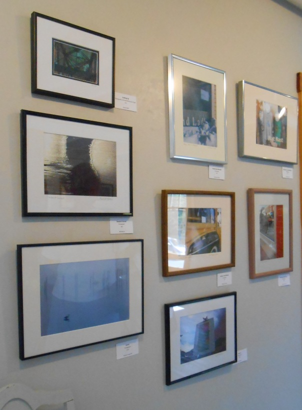 The wall is all photography including four prints by me and one by Bill Moore