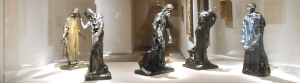 Burghers of Calais (miniature), August Rodin @ The Portland Museum of Art, Portland, Maine.
