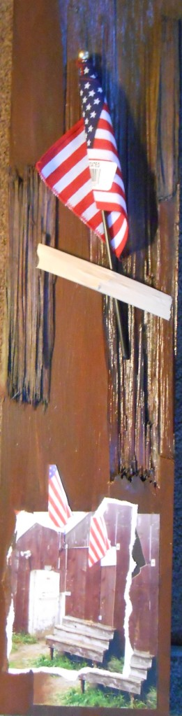 """For Those Who Built It"", (c)Daryl-Ann Dartt Hurst, 22"" x 5 1/2, MM, not finished"