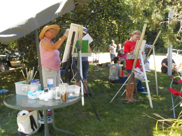 Artists of all ages at LIR event