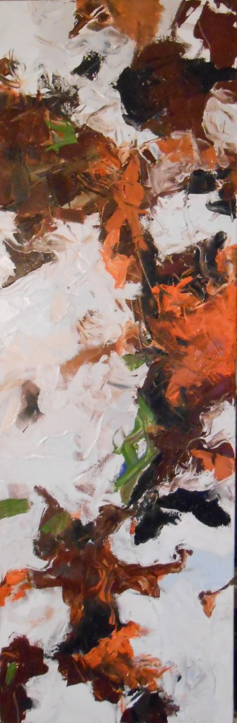 """From the Wood""(c) Daryl-Ann Dartt Hurst. 12"" x 36"", oil on canvas."