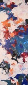 """Miles"", oil on canvas, 36""x 12"", 2014. (c)Daryl-Ann Dartt Hurst"