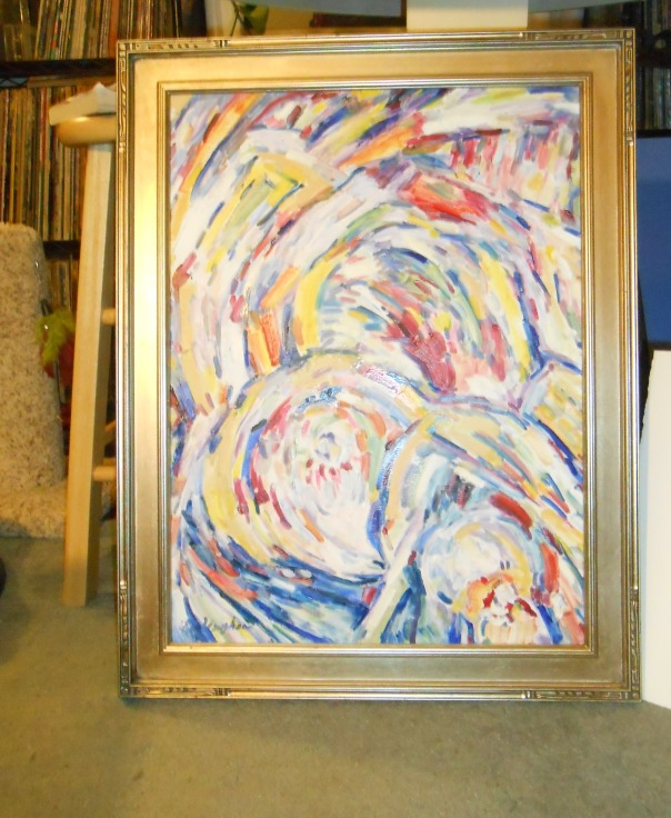 """Rose Window"", (c) Anne Vaughan, oil on canvas."