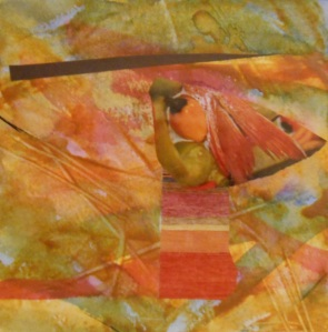 """Crazy Dreams"", (c) Daryl-Ann Dartt Hurst, 2015. mm, 6"" x 6"""