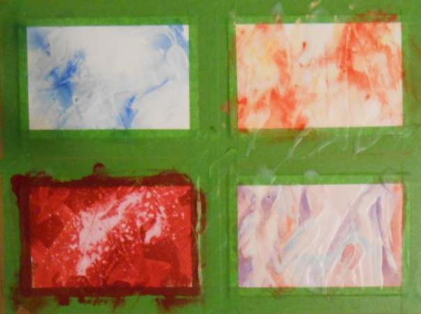 I have been invited to display at an area gallery postcard-inspired show. These are unfinished pieces for that.