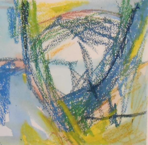 """The Mystery of the Missing Tape"", (c)Daryl-Ann Dartt Hurst, MM on paper, 6"" x 6"""