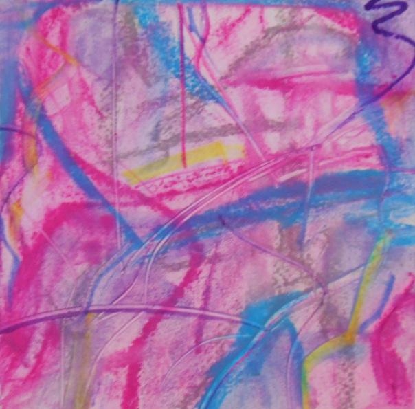 """Velvet Underground"", (c) Daryl-Ann Dartt Hurst,2015, chalk pastel on wet paper. 6"" x 6"""