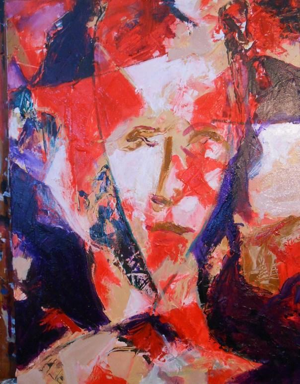 """Modigliani's Mistress"" (c) Daryl-Ann Dartt Hurst, mixed media on canvas, 2015"