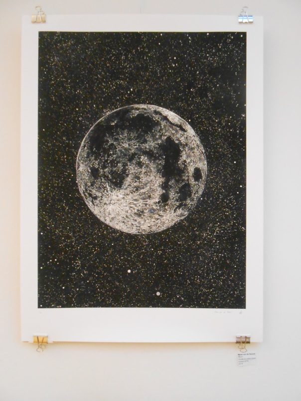"""The Moon"", (c)Marsi van de Huevel, giclee, but the original is graphite."